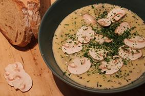 Vitlöks- och champinjonsoppa